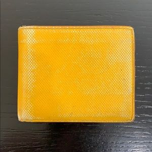 Vintage signature Yellow bifold wallet.